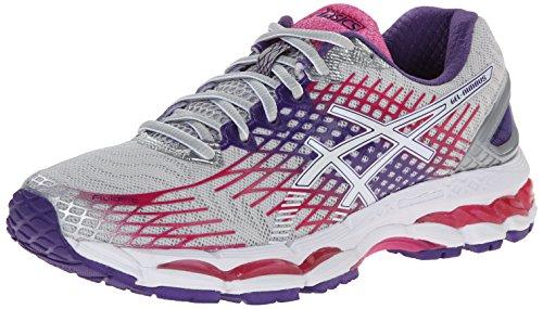 ASICS Women's Gel-Nimbus 17 Running Shoe,Lightning/White/Hot Pink,8.5 M US