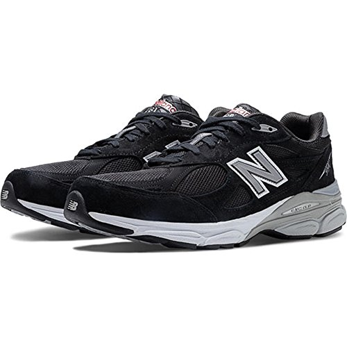 New Balance Men's M990BK3 Running Shoe,Black,9.5 2E US