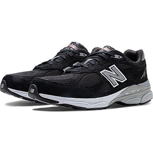 New Balance Men's M990BK3 Running Shoe,Black,9.5 2E US