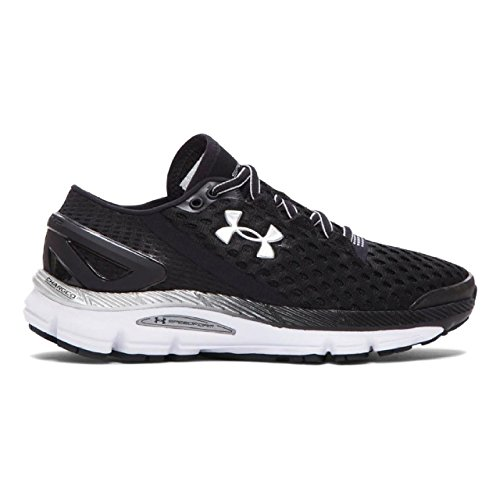 Under Armour Women's UA Speedform? Gemini 2 Black/White/Metallic Silver Sneaker 7.5 B (M)