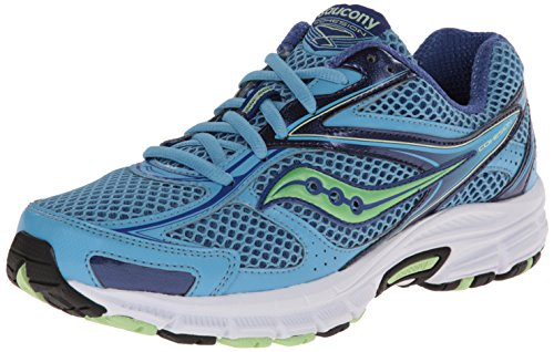 Saucony Women's Cohesion 8 Running Shoe,Blue/Green,8.5 M US