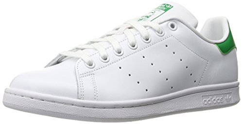 adidas Men's Originals Stan Smith Sneaker, White/White/Fairway, 12.5 M US