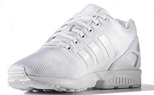 adidas Originals Men's ZX Flux Fashion Sneaker, White/White/Light Grey, 10.5 M US