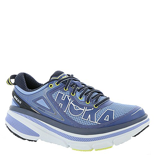 Hoka One One Womens Bondi 4 Running Sneaker Shoe, Hydrangea/Sunny Lime, US 9