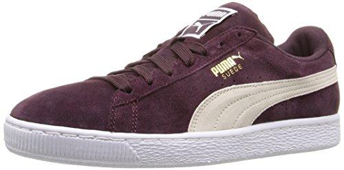 PUMA Women's Suede Classic W Fashion Sneaker, Winetasting/Puma White, 7.5 M US