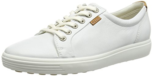 Ecco Footwear Womens Soft VII Fashion Sneaker, White, 39 EU/8-8.5 M US