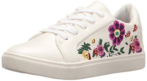 Betsey Johnson Women's Mayas Fashion Sneaker, White/Multi, 8 M US
