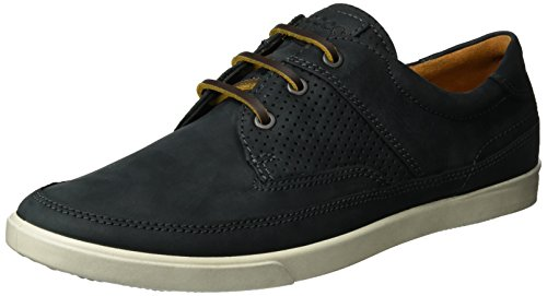 ECCO Men's Collin Nautical Perforated Fashion Sneaker, Black, 45 EU/11-11.5 M US