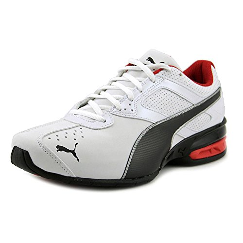 PUMA Men's Tazon 6 FM Puma White/ Puma Black/ Puma Silver Running Shoe – 13 D(M) US