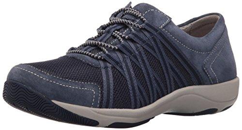 Dansko Women's Honor Fashion Sneaker, Blue Suede, 40 EU/9.5-10 M US