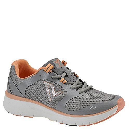 Vionic Womens Vio-Nrg Elation1.0 Laceup Sneaker Grey/Coral Size 8