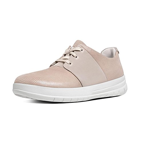 FitFlop™ Womens Sporty-Pop™ X Lizard-Print Sneakers Nude Pink Size 7