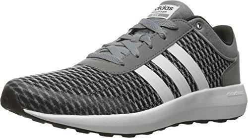 adidas NEO Men's Cloudfoam Race Running Shoe, Black/White/Tech Grey, 11.5 M US