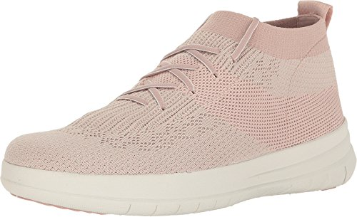 FitFlop™ Womens Uberknit™ Slip-On High Top Sneakers Neon Blush/White Size 11