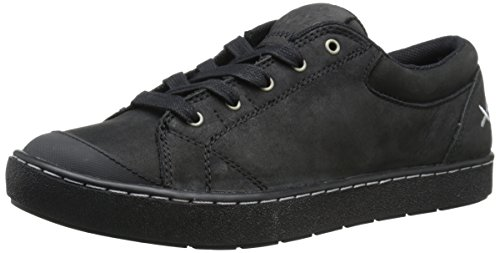 MOZO Women's Maven Leather Sneaker, Black, 9 M US