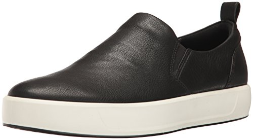 ECCO Men's Soft 8 Slip on Fashion Sneaker, Black, 40 EU/6-6.5 M US