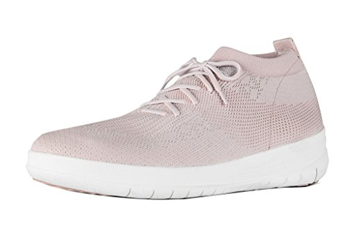 FitFlop™ Womens Uberknit™ Slip-On High Top Sneakers Neon Blush/White Size 9